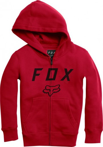Bluza Fox Junior Z Kapturem Na Zamek Legacy Moth Dark Red