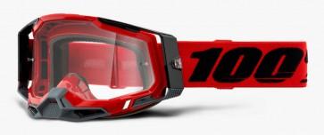 Gogle 100% Racecraft 2 red (szyba clear Anti-Fog)