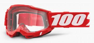 Gogle 100% Accuri 2 Red (szyba clear Anti-Fog)