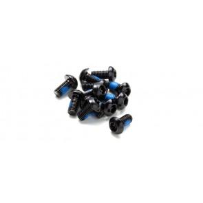 Śruby Reverse do tarcz 12szt, T25-czarny