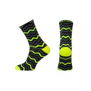 Accent Skarpetki kolarskie Zigzac Long, fluo, XL (45-46)