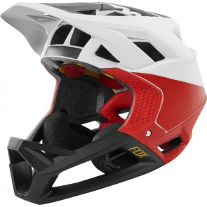 Kask Rowerowy Fox Proframe Pistol White/black/red L