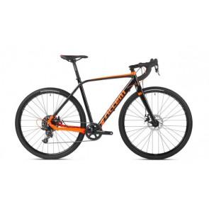 Rower gravel FURIOUS czarno-pomarańczowy M