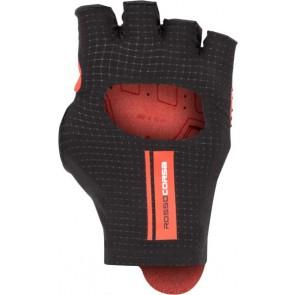 Rękawiczki kolarskie Cabrio, czarno-czerwone, rozmiar L