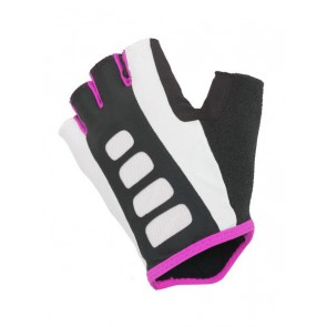 Rękawiczki kolarskie AUTHOR Lady Sport Gel X6 czarno-biało-różowe M