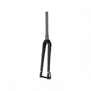 """Accent Widelec przełajowy CX-ONE PRO 1-1/8""""-1.5"""", karbonowy, oś 15mm, disc only, czarno-żółty fluo"""