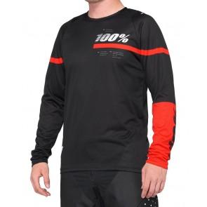 Koszulka męska 100% R-CORE Jersey długi rękaw red black