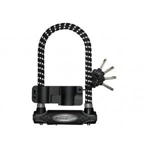 Zapięcie rowerowe MASTERLOCK 8195 U-LOCK 13mm 110mm 210mm KLUCZYK pokryte gumą z refleksem czarne