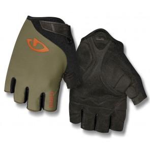 Rękawiczki męskie GIRO JAG krótki palec olive deep orange roz. XXL (obwód dłoni od 267 mm / dł. dłoni od 211 mm) (NEW)