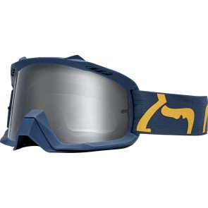 GOGLE FOX AIR SPACE RACE NAVY/YELLOW - SZYBA CLEAR