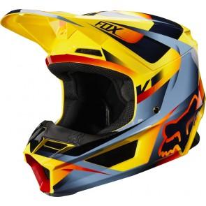 FOX V-1 MOTIF kask żółty