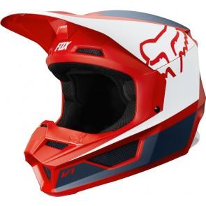 FOX V-1 PRZM kask czerwono-biały