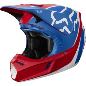 FOX V-3 KILA kask czerwono-niebieski