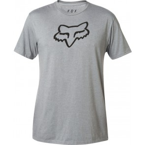 FOX LEGACY FOX HEAD HEATHER GRAPHITE T-SHIRT