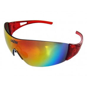 Okulary LAZER MAGNETO Crystal Red (Smoke-Black Red REVO, Yellow-Blue Mirror, Clear)