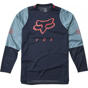 Koszulka Rowerowa Fox Junior Z Długim Rękawem Defend Navy