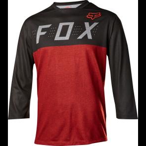 FOX Indicator 3/4 Heather jersey czarno-czerwony