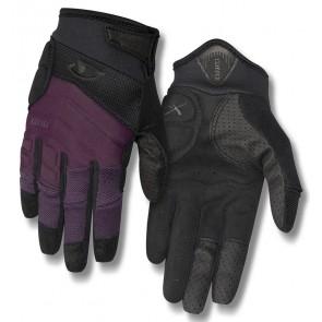Rękawiczki damskie GIRO XENA długi palec dusty purple black roz. L (obwód dłoni 190-210 mm / dł. dłoni 170-177 mm) (NEW)