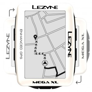 Komputer rowerowy LEZYNE MEGA XL GPS pearl white (LIMITED EDITION)