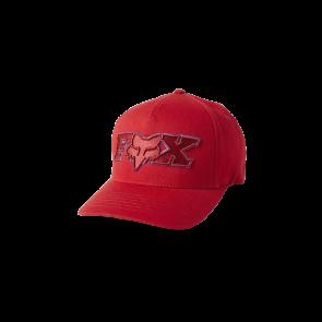 Czapka z daszkiem FOX Ellipsoid Flexfit czerwony
