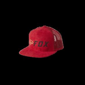 Czapka z daszkiem FOX Junior Apex Snapback czerwony