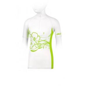 Accent Koszulka dziewczęca DAISY biało-zielona, wzór kwiaty L/XL