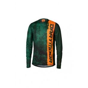 Jersey MTB Woods zielono-pomarańczowy kamuflaż, M