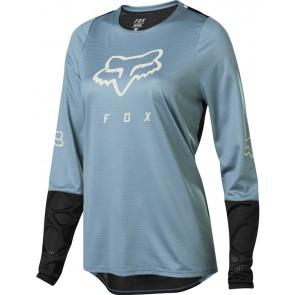 FOX Koszulka Rowerowa  Lady z Długim Rękawem Defend Light Blue