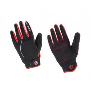 Accent Rękawiczki ocieplane Snowflake czarno-czerwone S