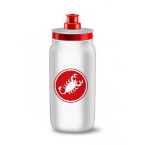 Bidon z logo Castelli, biały, 550ml