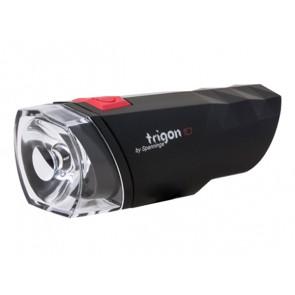 Lampka przednia SPANNINGA TRIGON 10 10 luxów/50 lumenów + baterie czarna