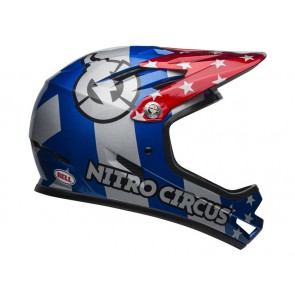 KASK BELL SANCTION nitro circus gloss silver blue red-L