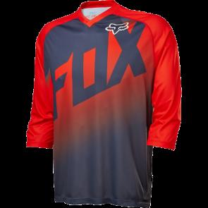 Fox Jersey FLOW 3/4 czerwono-czarny L