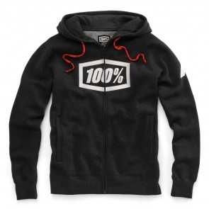 Bluza męska 100% SYNDICATE Hooded Zip Sweatshirt Black Heather White roz. L (NEW)
