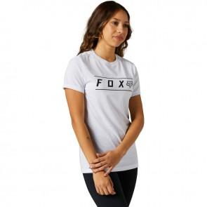 T-shirt FOX Lady Pinnacle Tech biały