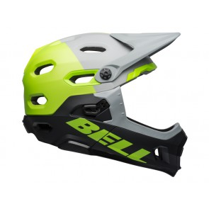 BELL SUPER DH MIPS SPHERICAL unhinged matte gloss gray green black kask-M