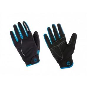 Accent Rękawiczki ocieplane Snowflake czarno-turkusowe S