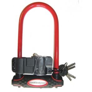 Zapięcie rowerowe MASTERLOCK 8195 U-LOCK 13mm 110mm 210mm czerwone