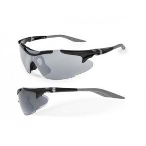Accent Okulary Voyager czarno - grafitowe; soczewki PC: szare lustrzane, przezroczyste