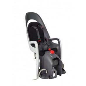 Hamax Fotelik row. CARESS szaro-biały, czarna wyściółka z adapterem na bagażnik