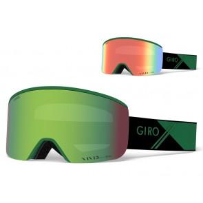 Gogle zimowe GIRO AXIS GREEN SPORT TECH (Szyba lustrzana kolorowa VIVID-Carl Zeiss EMERALD 22% S2 + Szyba lustrzana kolorowa VIVID-Carl Zeiss INFRARED 62% S1) (DWZ)