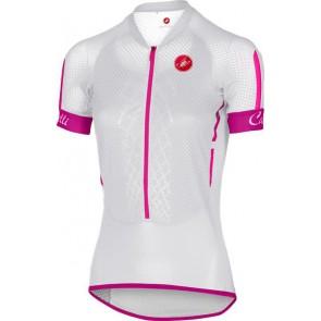 Castelli Koszulka kolarska Climbers W, biało-różowa, rozmiar XS