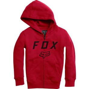 Bluza Fox Junior Z Kapturem Na Zamek Legacy Moth Dark Red