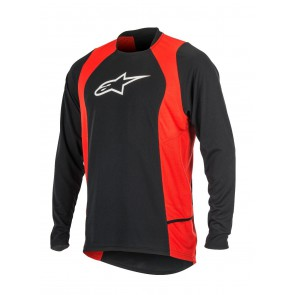 ALPINESTARS DROP 2 LS JERSEY BLACK RED