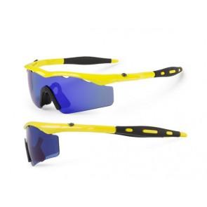 Accent Okulary Chico żółte fluo; soczewki PC: niebieskie lustrzane