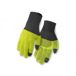 Rękawiczki zimowe GIRO KNIT MERINO WOOL długi palec grey lime roz. S/M (NEW)