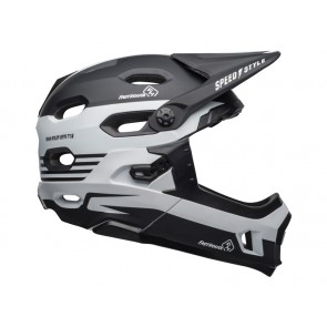 BELL SUPER DH MIPS SPHERICAL fasthouse stripes matte black white kask-L