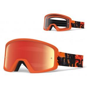 Gogle GIRO TAZZ lava (Szyba kolorowa AMBER xx% S3 + Szyba Przeźroczysta 99% S0) mocowanie pod zrywki +10 zrywek (NEW)