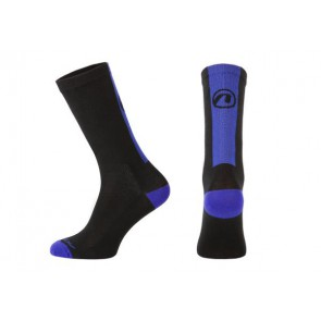 Accent Skarpetki kolarskie Stripe Long, czarno-niebieskie, M (39-41)
