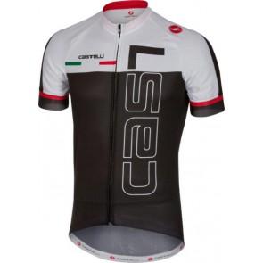Castelli Koszulka kolarska Spunto, czarno-biała, rozmiar M